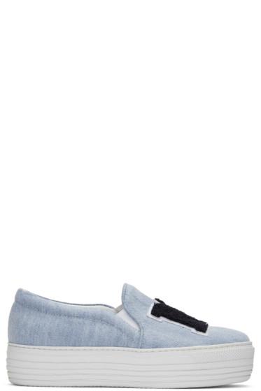 Joshua Sanders - Blue 'NY' Double Slip-On Sneakers