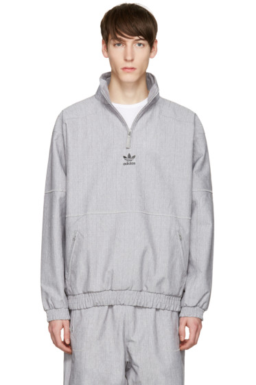 adidas Originals - Grey Zip Wind Jacket