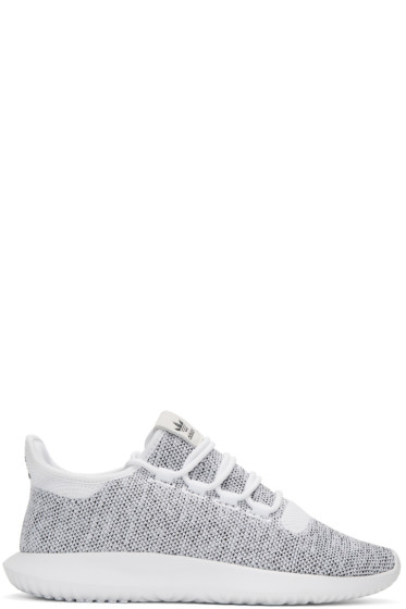 adidas Originals - White & Black Tubular Shadow Knit Sneakers