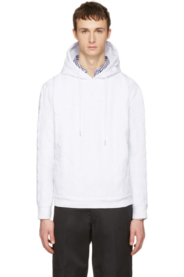 Telfar - White 'Customer' Embroidered Hoodie