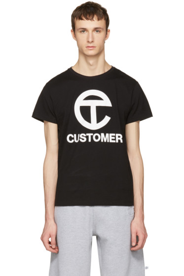 Telfar - Black 'Customer' T-Shirt