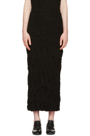 Issey Miyake - Black Twisted Skirt
