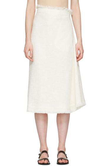 Nehera - Off-White Asymmetric Skirt