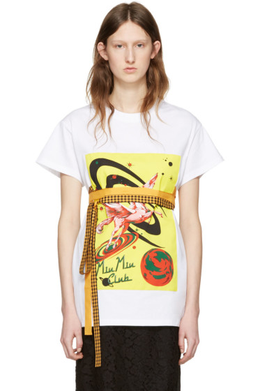 Miu Miu - White 'Miu Miu Club' T-Shirt
