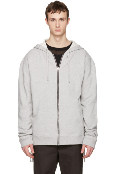 Faith Connexion - Grey Laced Zip-Up Hoodie