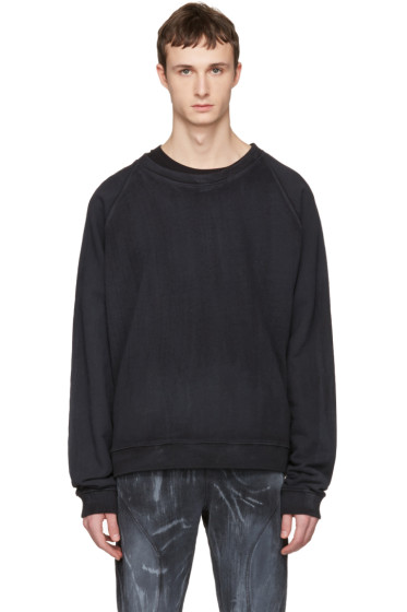 Faith Connexion - Black Oversized Washed Pullover