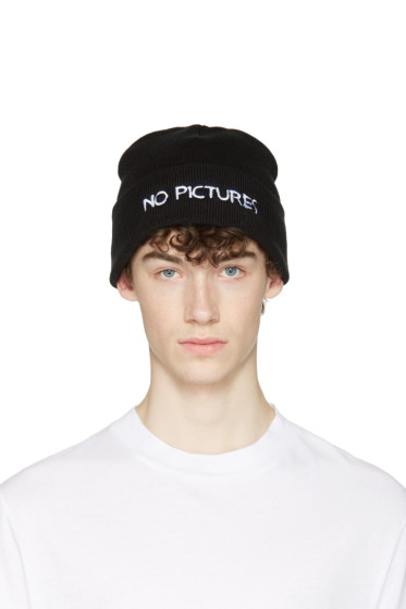 Nasaseasons - Black 'No Pictures' Beanie