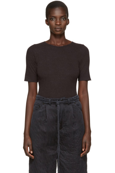 Lauren Manoogian - Grey Cotton & Cashmere T-Shirt