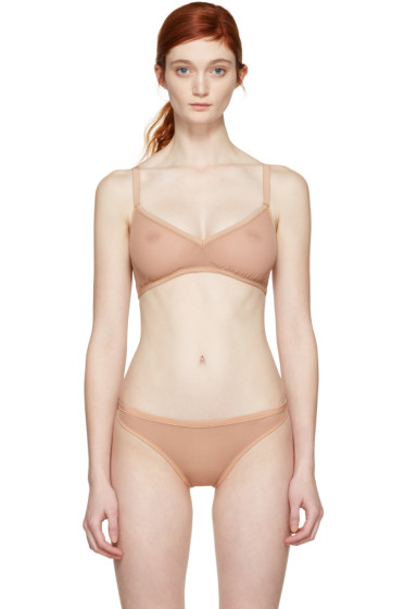 Land of Women - Tan Mesh Classic Bra