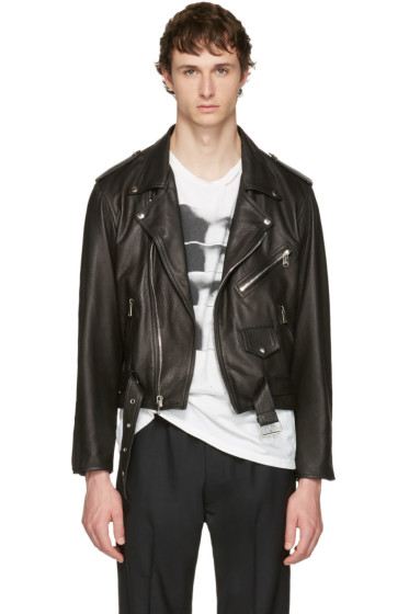 Enfants Riches Déprimés - Black Leather Checkerboard Jacket