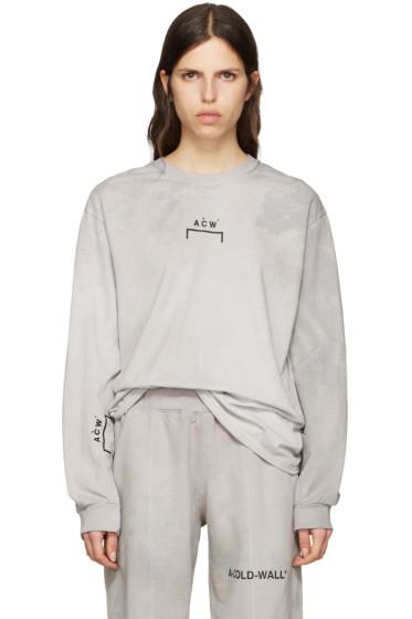 A-Cold-Wall* - Grey Signature Logo T-Shirt