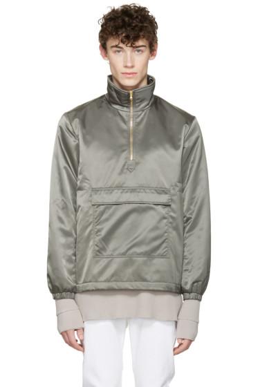 Aimé Leon Dore - SSENSE Exclusive Grey MA-1 Nylon Jacket
