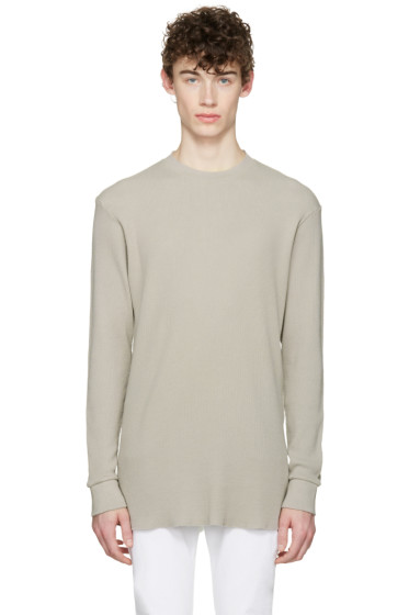 Aimé Leon Dore - SSENSE Exclusive Grey Long Sleeve T-Shirt