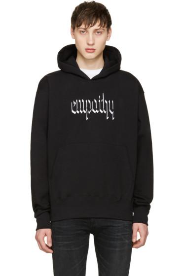 Resort Corps - Black Embroidered Empathy Hoodie