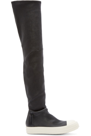 Rick Owens - Black Thigh-High Sock Sneakers