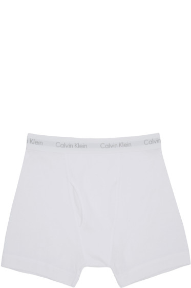Calvin Klein Underwear - White Boxer Briefs Three-Pack