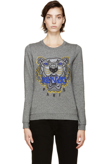 Kenzo - Grey Tiger Logo Sweatshirt