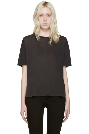 R13 - Black Oversized Classic T-Shirt