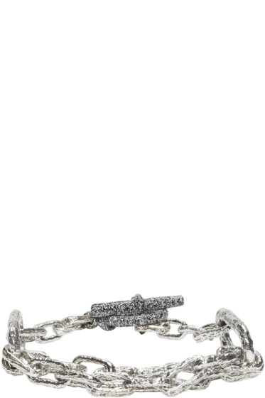 Pearls Before Swine - Silver Link Bracelet