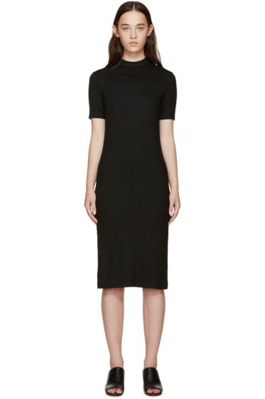 Nomia - Black Ribbed Jersey Dress
