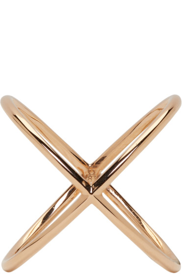Eva Fehren - Rose Gold X Ring
