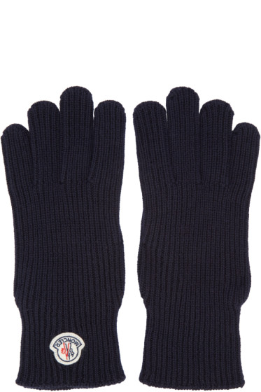 Moncler - Navy Wool Gloves