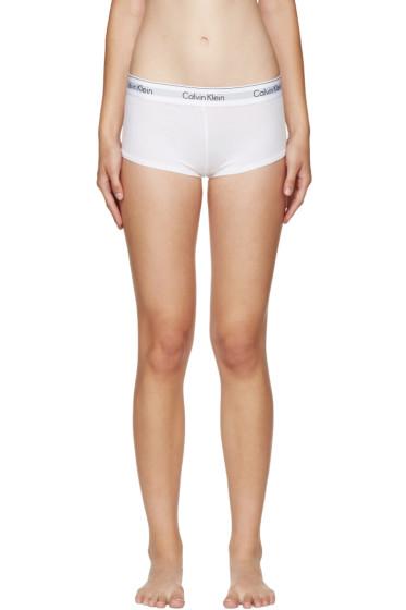 Calvin Klein Underwear - White Modern Boy Shorts