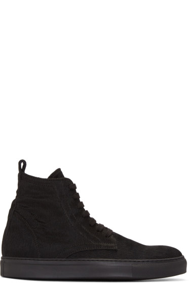 Ann Demeulemeester - Black Odyssey High-Top Sneakers