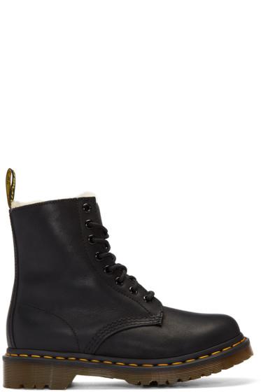 Dr. Martens - Black Fur-Lined Serena Boots