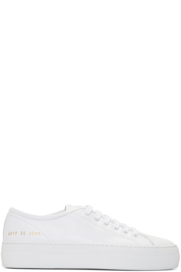 Woman by Common Projects - White Tournament Low Super Sneakers