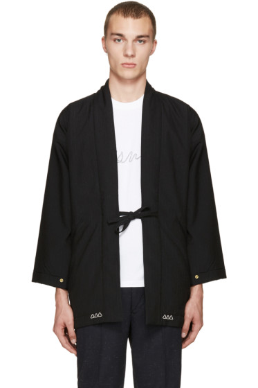Visvim - Black Wool Dotera Coat