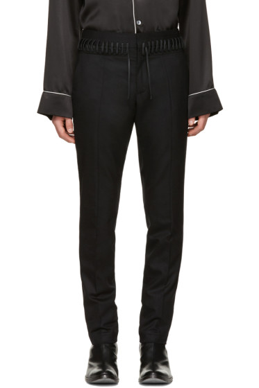 Haider Ackermann - Black Laced-Up Trousers