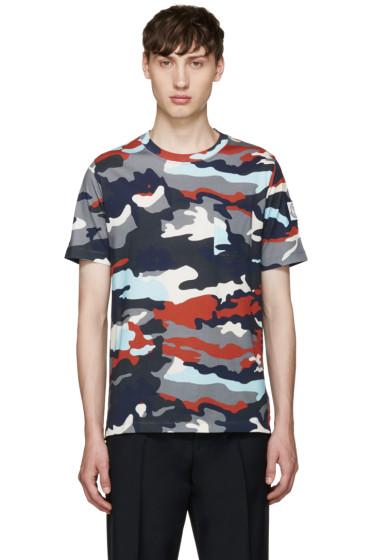 Moncler Gamme Bleu - Multicolor Camo T-Shirt