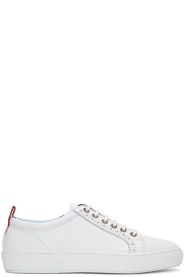 Moncler Gamme Bleu - White Leather Sneakers