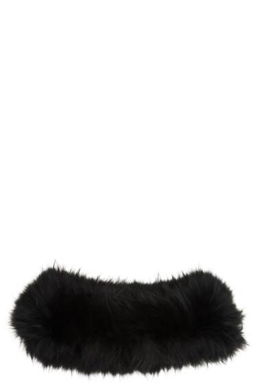 Yves Salomon - Black Fur Collar