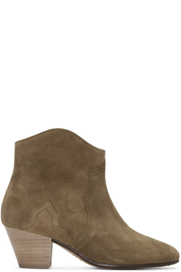 Isabel Marant - Brown Suede Dicker Ankle Boots