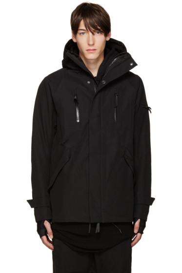 11 by Boris Bidjan Saberi - Black Hooded Zip-Up Jacket