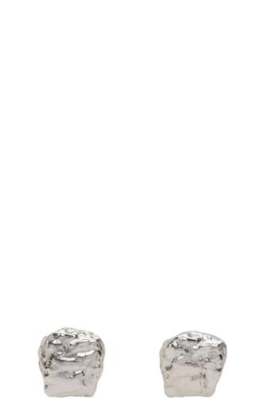 Pearls Before Swine - Silver Mini Textured Earrings