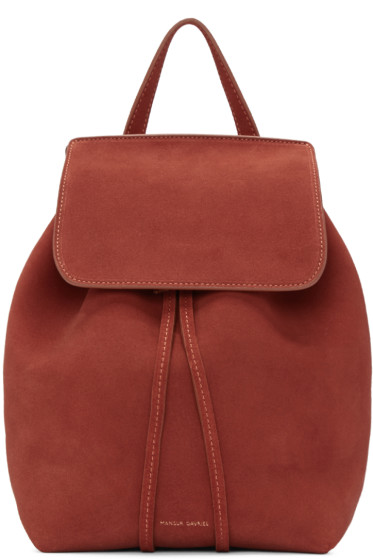 Mansur Gavriel - Red Suede Mini Backpack