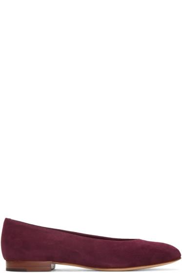 Mansur Gavriel - Purple Suede Ballerina Flats