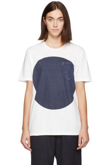 Blue Blue Japan - White & Indigo Flag T-Shirt