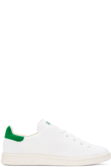 adidas Originals - White & Green Stan Smith OG PK Sneakers