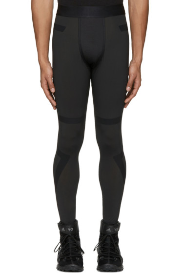 Y-3 SPORT - Black TechFit® Long Tights