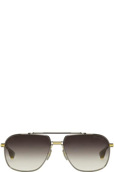 Dita - Gunmetal Gold-Plated Victoire Aviator Sunglasses