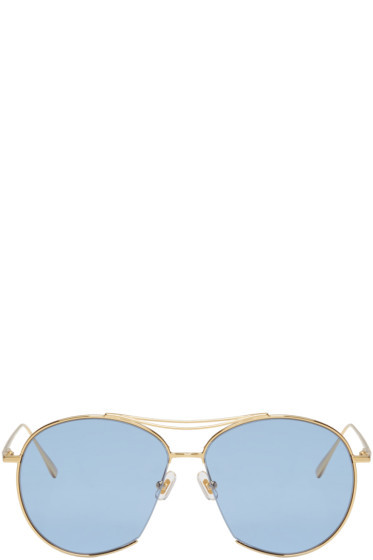 Gentle Monster - Gold Jumping Jack Sunglasses