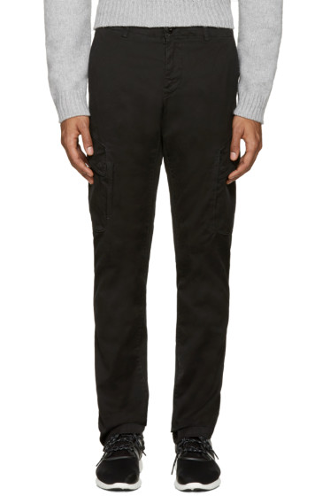 Stone Island - Black Tilted Cargo Pants