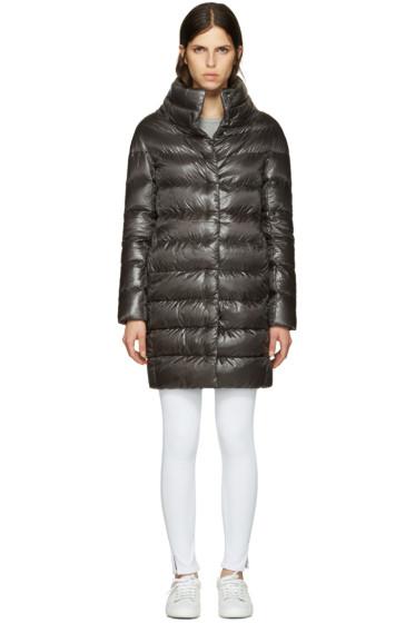Herno - Grey Down Cocoon Coat