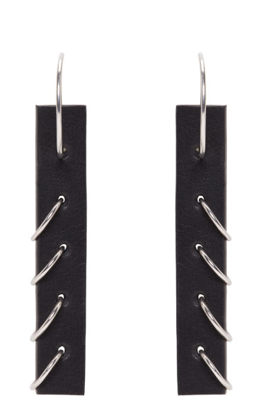 Ribeyron - Black Small Pierced Earrings