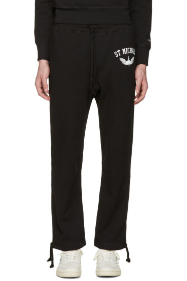 Noah - Black 'St. Michael' Lounge Pants