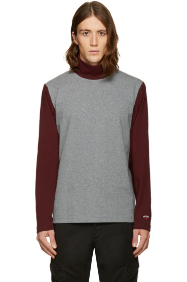 Noah - Grey Colorblock Turtleneck